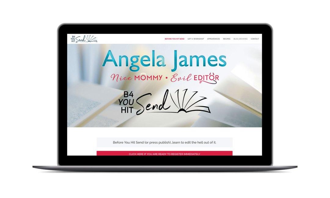 Screenshot: Angela James Website