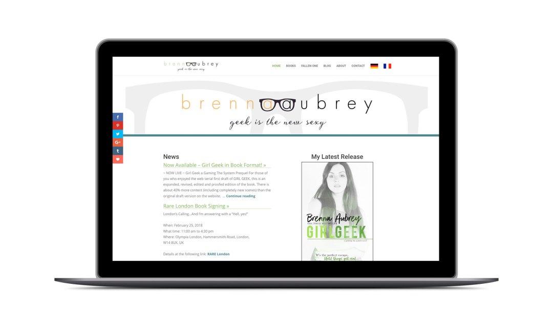 Screenshot: Brenna Aubrey Website