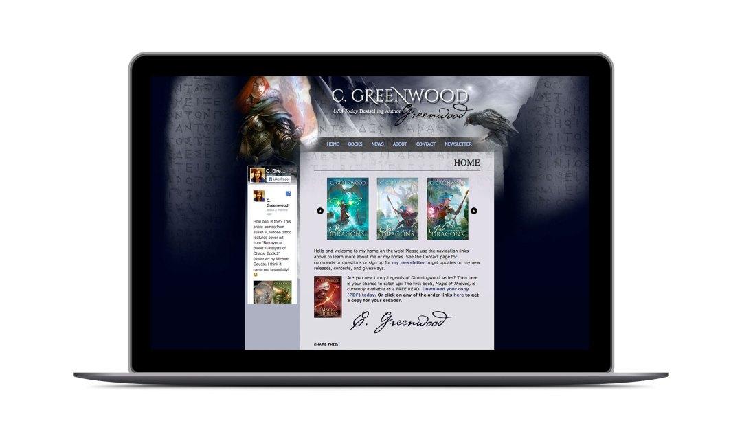 Screenshot: C. Greenwood Website