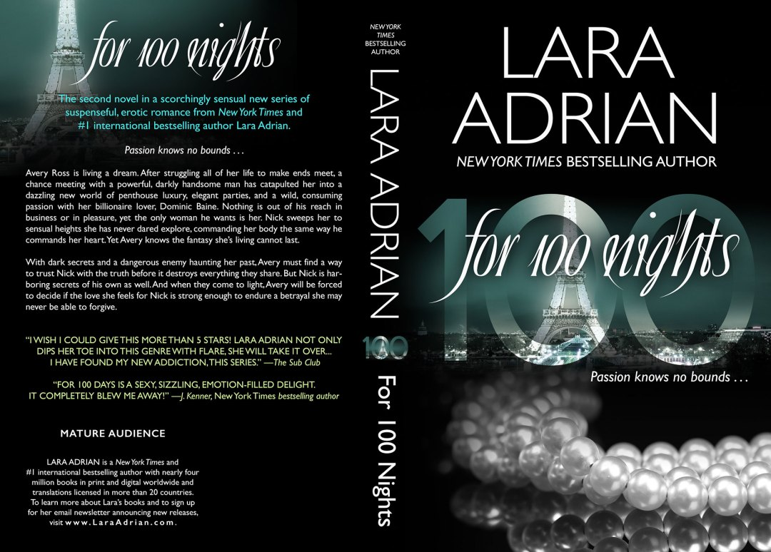 For 100 Nights by Lara Adrian (Print Coverflat)
