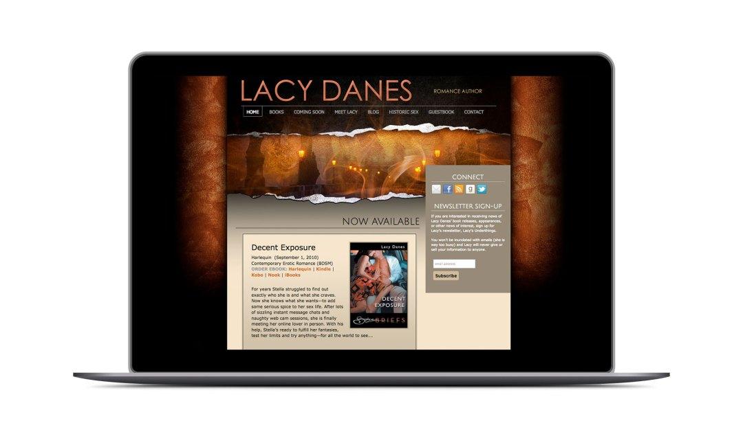 Screenshot: Lacy Danes Website