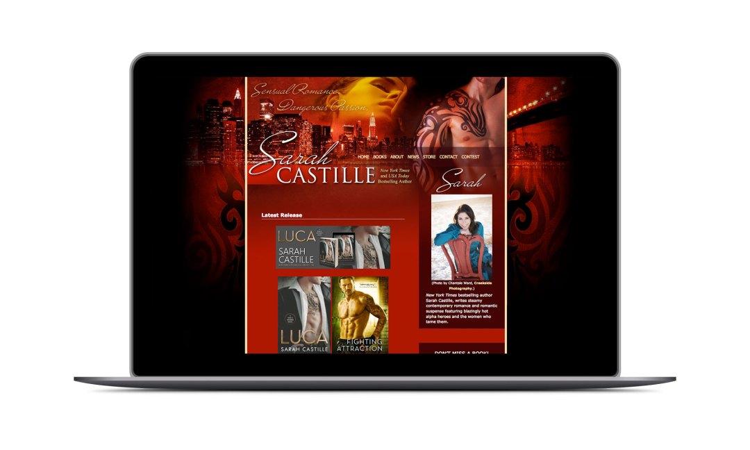 Screenshot: Sarah Castille Website
