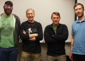 2014 CROCT Board officers, L to R: Marty Larson, Griff Wigley, Curtis Ness, Carl Arnold