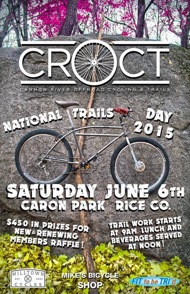 Membership drive ends May 31  Raffle/party/trail work day is