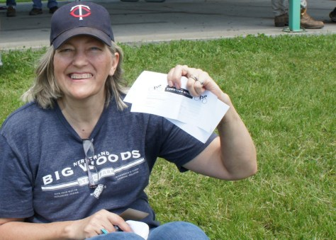 Sue Benson - CROCT membership raffle 2015 - Caron Park