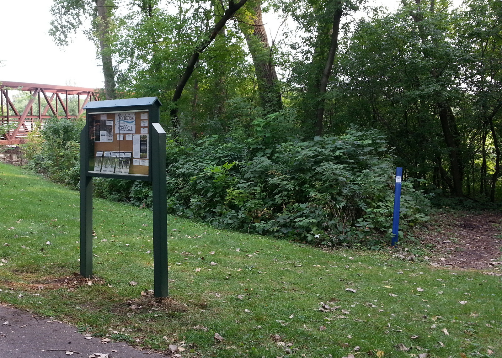 CROCT's first kiosk is in place at the Sechler Park MTB