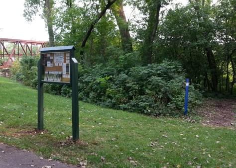 Sechler Park MTB trailhead kiosk, Northfield