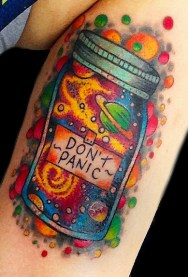 Universe in a jar. Inside upper arm. 2016