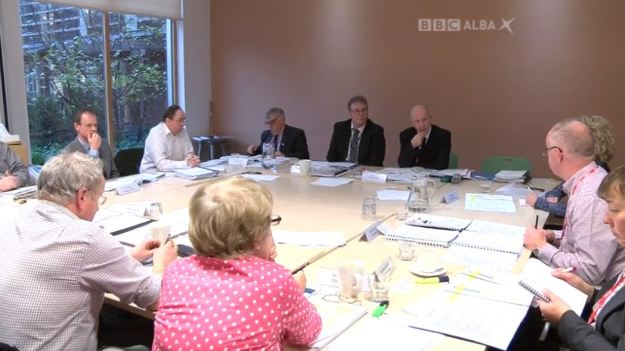 BBC Alba - Commission Chaos - 141216 - Board Meeting - David Campbell, Commissioner, speaks