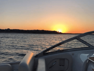 Boat ride sunset
