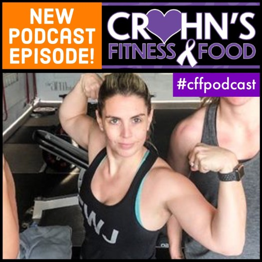 Crohn's Fitness Food podcast cover with Katie Dolgert