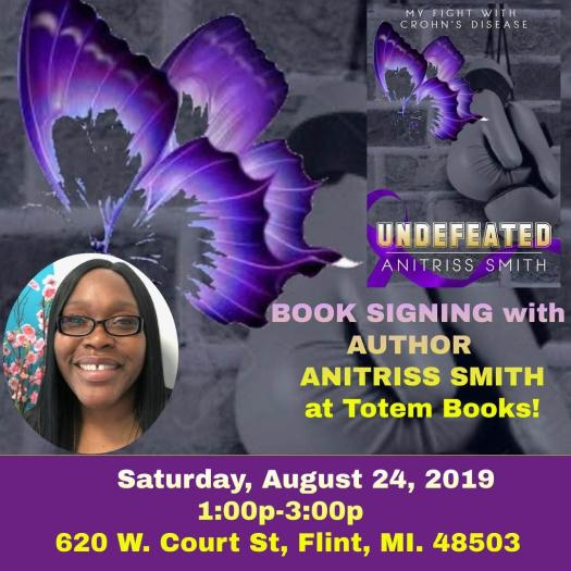 Anitriss Smith Crohn's Warrior book signing