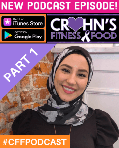 Cover of Crohn's Fitness Food podcast with Sanaa Lynne
