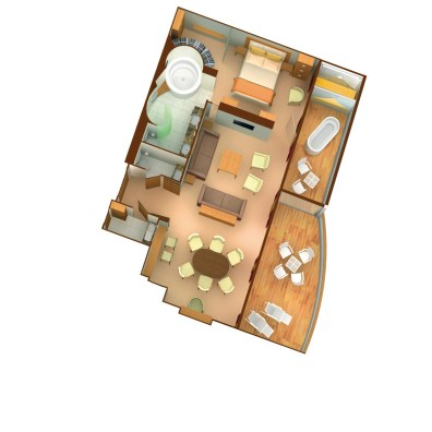 Plan de la Wintergarden Suite - Seabourn Odyssey