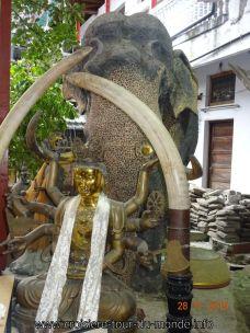 Croisière tour du monde Escale à Colombo au Sri Lanka le Temple Gangaramaya Vihara