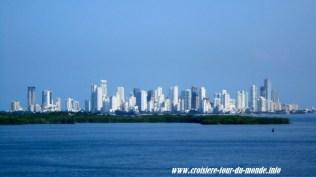 Escale à Cartagena en Colombie la ville vue du bateau
