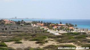 Escale à Oranjestad Aruba Le paysage est aride
