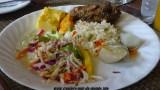 Escale à St Georges île de la Grenade plat créole à base de poisson