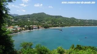 Escale à St Georges île de la Grenade une baie de l'île