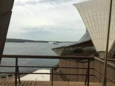Le Costa Luminosa en escale à Sydney, Le Costa Luminosa à l'ancre vue de l'Opéra