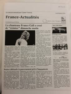 Un journal en Français