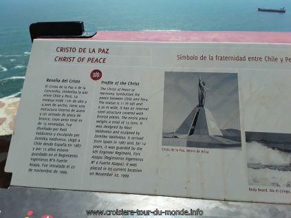 Escale à Arica au Chili, Morro de Arica Cristo de la Paz