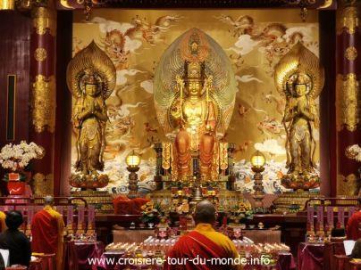 Croisière tour du monde 2019 Escale à Singapour J1 Buddha Tooth Relic