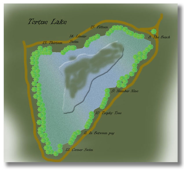 Drawing of Tortue Lake