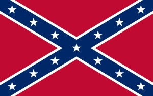 Confederate battle flag, rectangular