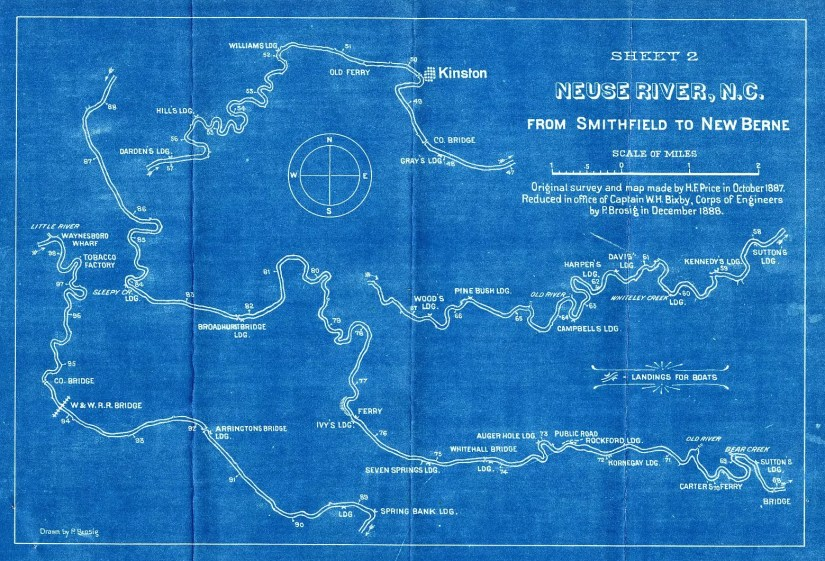 Neuse River blueprint original
