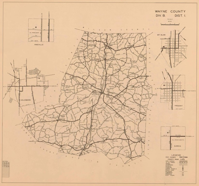 1936 Wayne County road survey map