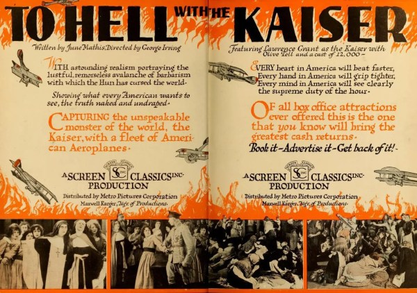 To Hell with the Kaiser poster
