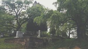Northwest view of Pine Ridge Cemetery