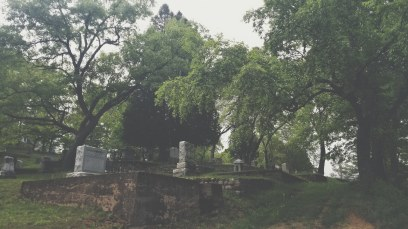Northwest view of Pine Ridge Cemetery