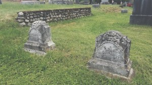 Family stones in Pine Ridge Cemetery
