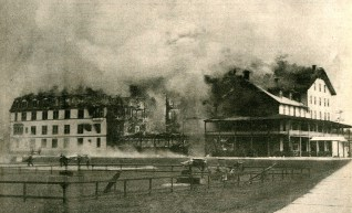 In 1930 the hotel burned to the ground and was never rebuilt. It was host to numerous presidents and dignitaries and the catalyst for the cure cottage movement in the area.