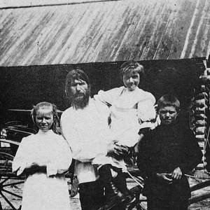 Rasputin with his family