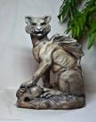 Cat Gargoyle by Linda Saboe
