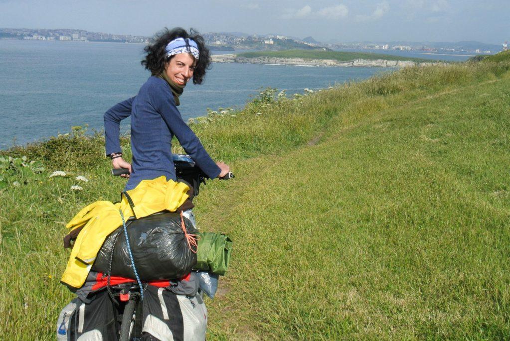 viajar sola en bici