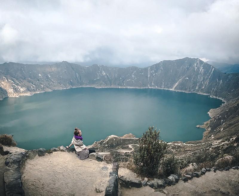 Actividades en el volcán y laguna de Quilotoa, Ecuador