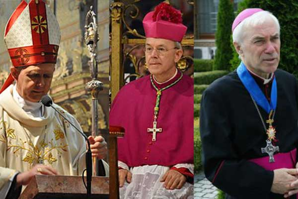 Appello di tre Vescovi cattolici a Papa Francesco in difesa del matrimonio