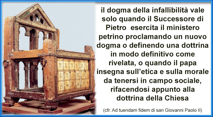 Infallibile è la Cattedra di Pietro, non la persona Simone