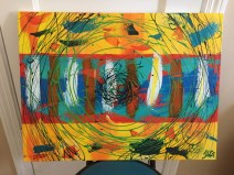 Abstract Acrylic 62 cm x 45 cm Selling $100