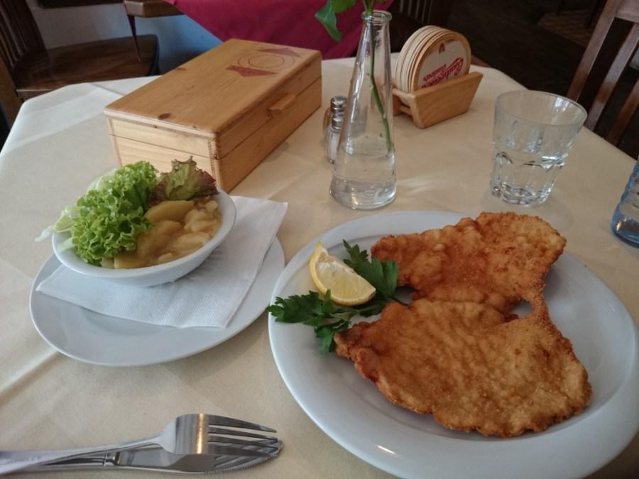 Wiener Schnitzel .Plato típico.