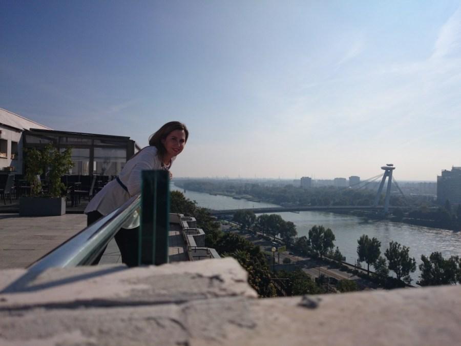 Puente Nuevo desde el Castillo de Bratislava. Qué ver en Bratislava.