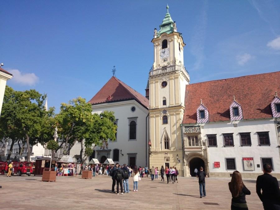 Plaza Hlavné Námestie. Bratislava. Qué ver en Bratislava
