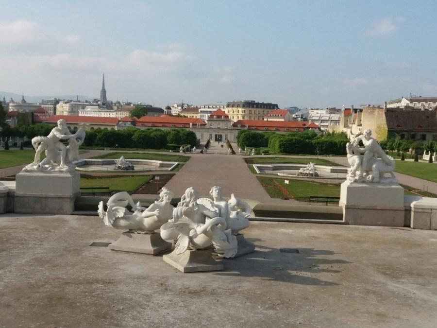 Viena y jardines desde el Palacio Belvedere.