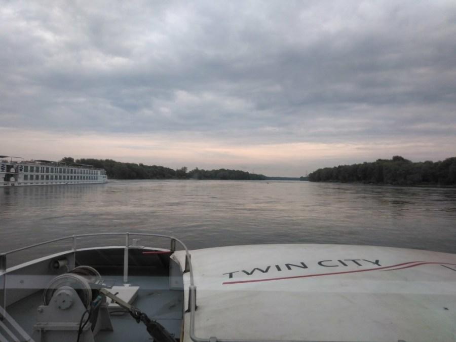 Navegando hacia Bratislava.