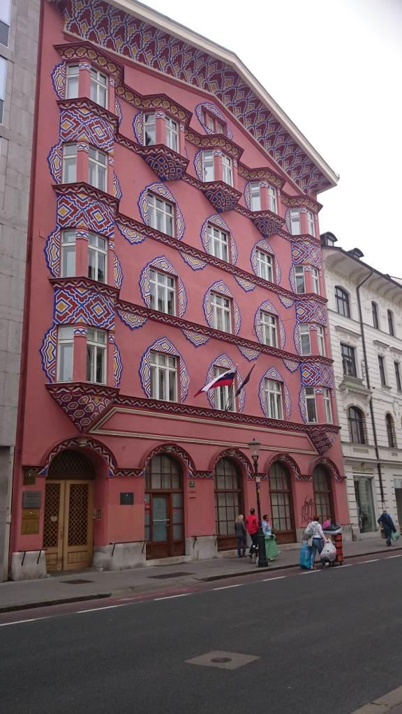 Edificio del antiguo banco cooperativo. Liubliana. Eslovenia.