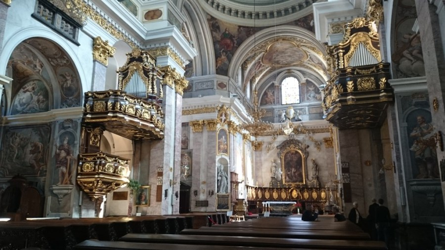 Qué ver en Liubliana. Interior de la Catedral de San Nicolás.